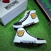 MOSCHINO VITELLO Zipper Casual Shoes