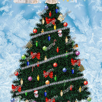 COMMERCIAL USE OK, Christmas Tree To Decorate, Digital Scrapbook Christmas Tree, Baubles, Tinsel, Lights, Toppers, Instant Download