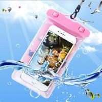 1psc waterproof phone bag transparent touchable pouch beach swimming bag