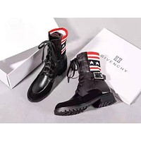 Givenchy 2019 new tube in the wild buckle boots