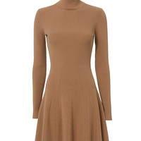 A.L.C. Delia Turtleneck Rib Flare Dress - INTERMIX®