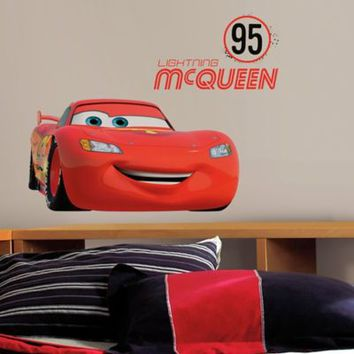 Disney® Cars Lightning McQueen Number 95 Peel and Stick Giant Wall Decals
