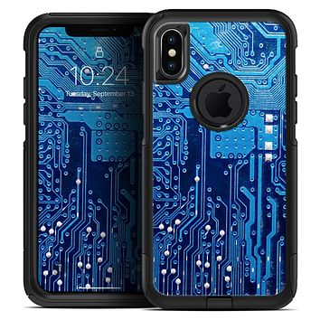 Blue Circuit Board V1 - Skin Kit for the iPhone OtterBox Cases