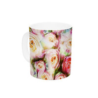 "Dawid Roc ""Pastel Rose Romantic Gifts"" Green Photography Ceramic Coffee Mug"