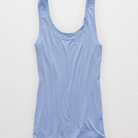 Aerie Real Soft® Boy Tank, Indigo Waters