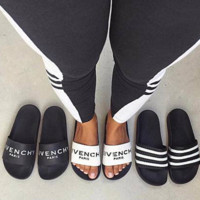 GIVENCHY PARIS andals Comfortable Loose Slippers(3 color) white