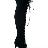 All The Way Thigh-High Lace-Up Boots GoJane.com