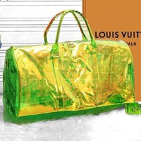 LV Louis Vuitton Reflective Jelly Laser Portable Messenger Transparent Bag 3#