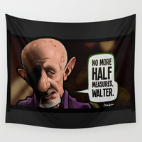 Half Measures Wall Tapestry by BinaryGod.com