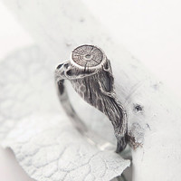 Sterling Silver Ring - Witches stump - Forestry ring - Tree stump ring - Ring witch