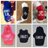 Personalized Dog Hoodie Zip Jacket. American Apparel. Dog Clothes. Pet Clothing. Custom Dog Hoodie Sweater.
