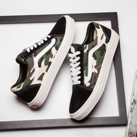 Best Online Sale Vans JP B Camo Old Skool Sneakers Convas Casual Shoes