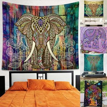CREYU3C Indian Mandala Tapestry Hippie Wall Hanging Bohemian Bedspread Throw Dorm Decor