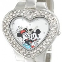 Disney Women's MN2003 Mickey and Minnie Mouse Silver Dial Bracelet Watch