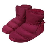 Cozy Quilted Down Warm House Clog Slippers SocksWomens Mens Waterproof Winter Thermal Fleece Lining Ankle Snow Boots Outdoor Indoor Nonslip Slip on Booties Shoes Lightweight Mules Slippers Xmas Gift