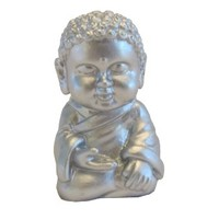 Pocket Buddha Mini Silver Serenity Figure Figurine