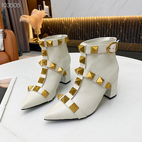Valentino women's Leather boots Fashionable Leisure Boots Shoes 08112