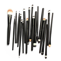Kingfore 20 Pcs Makeup Eye Brushes Cosmetic Set, Foundation Brush, Eye Shadow Brush, Eye Liner Brush, Lip Brush, Mascara Brush, Round Brush, Flat Brush, Concealer Brush