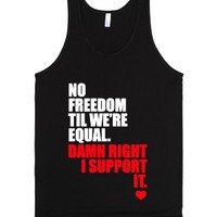 No Freedom Till We're Equal-Unisex Black Tank