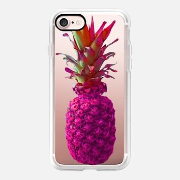 Atomic Pink Pineapple iPhone 7 Case by Lisa Argyropoulos | Casetify