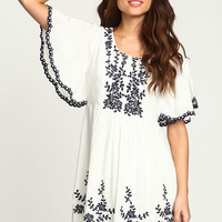 IVORY MOONRISE FLUTTER DRESS