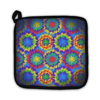 Potholder, Hippie Pattern With Bright Drops