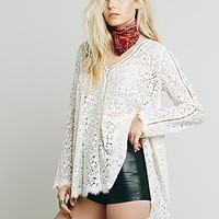 Free People Womens Full Moon Lace Tunic
