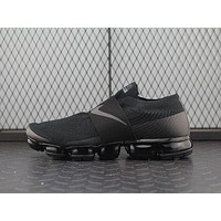 ONETOW Nike Air Max Vapor Max Laceless For Women Men Running Sport Casual Shoes Sneakers Black