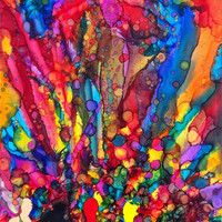 Free Shipping on Original 20 x 30 Bright Colorful by BrianMMoss