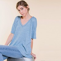 Waffle Knit Thermal Pocket Tunic