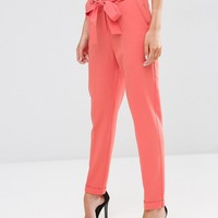 ASOS Cigarette Pants With Tie Waist