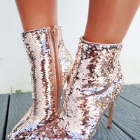 Shine All Day Heel: Rose Gold