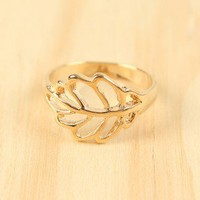 Make a Tree and Leaf Ring