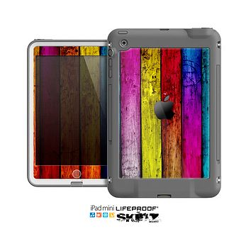 The Neon Wood Color-Planks Skin for the Apple iPad Mini LifeProof Case