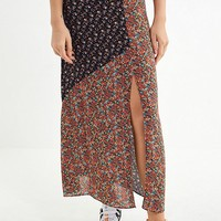 UO Mixed Print Maxi Skirt | Urban Outfitters
