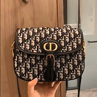 Dior 2020 New Bobby Embroidered Logo Saddle Bag Shoulder Bag Crossbody Bag