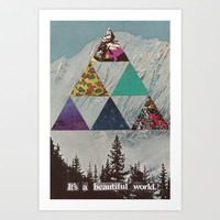 It's a beautiful world. Art Print by Sarah Eisenlohr
