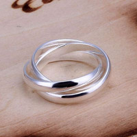 Antique looking Three Ring Set Sterling silver Ring For Daily wear