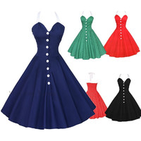 Maggie Tang 50s 60s Vintage Drancing Party Swing Jive Rockabilly Dress 525 = 1931678276