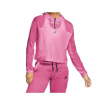 Nike Women's Air Hooded Running Jacket Pink Black
