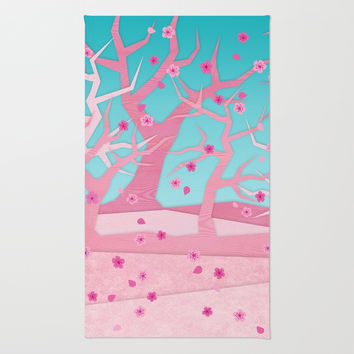 Spring trees Rug by EDrawings38