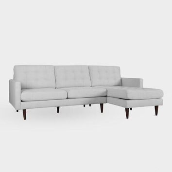 Pearl Gray Ennis Right Facing Sectional Sofa