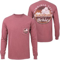 Virginia Tech Home of the Hokies Long-Sleeved T-Shirt: Maroon