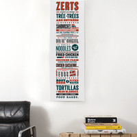 """Parks and Recreation Tom Haverford Apps and Zerts 8"""" x 24"""" Poster"""