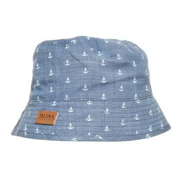 Baby Boys Denim Anchor Bucket Hat