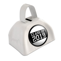 Class of 2019 Graduation White Cowbell Cow Bell
