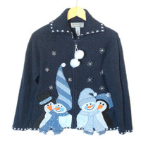 Snowmen and Penguins Tacky Ugly Christmas Sweater