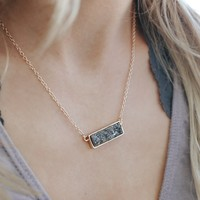 Spark a Fire Necklace - Charcoal