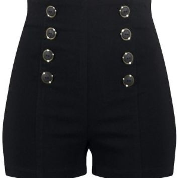 Women's High Waisted Pin Me Up Shorts
