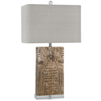Regina Andrew Croc Plated Copper Column Table Lamp